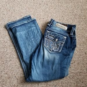 Ladies Distressed Sundee Easy Boot Jeans Size 34